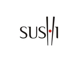 Nagyon ötletes sushi logó