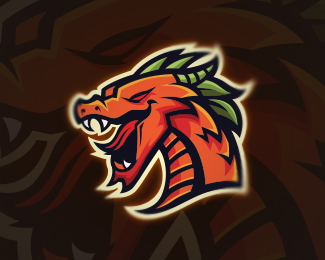 Mighty Dragon Mascot Logo Design