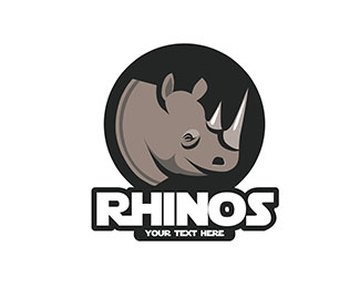 Rhinos Logo for sport team