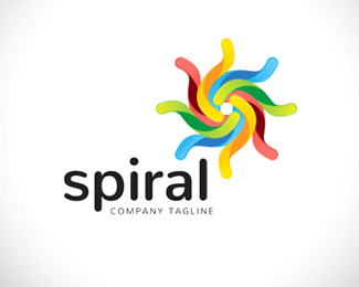 An attractive abstract spiral Logo Symbol design.