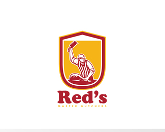 Red's Master Butcher Retro Logo