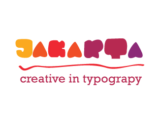 Jakarta creative in typograpy