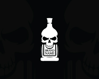 Skull Bottle Logo
