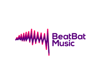 BeatBat Music logo design