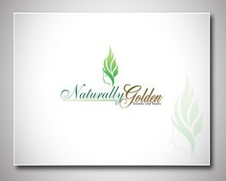 natural golden beauty logo