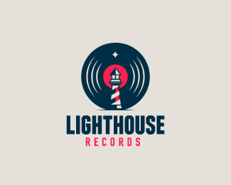 Logo design inspiration #26 - LightHouse Records by Bruno Favre