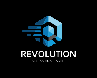 Revolution - Hexagon Logo Template