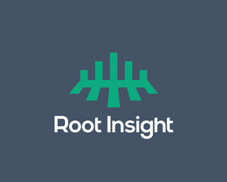 Root Insight, stats & data analytics logo design