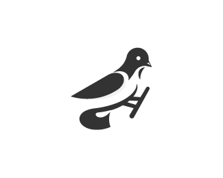 Bird logo and golden ratio grid