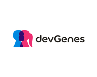 devGenes, genetics research logo design