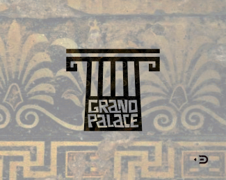 Logo mark for Grand Palace by ©Edoudesign.