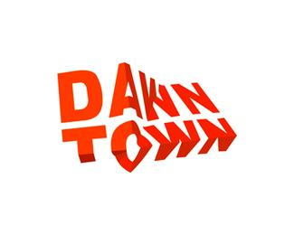 DawnTown modern architecture logo design