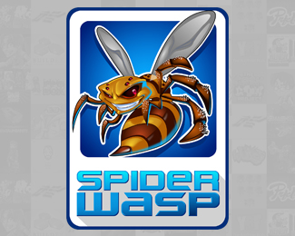 Spider Wasp Logo Design