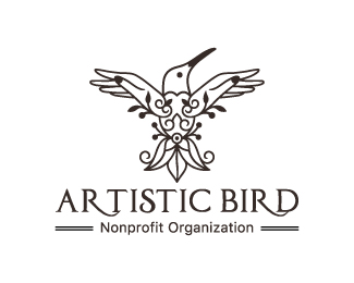 Artistic Humming Bird Logo