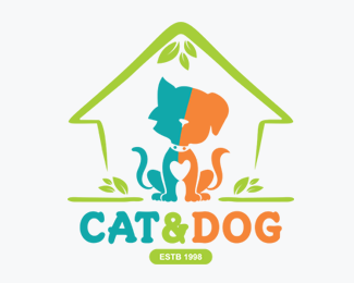 Cat Dog Animal Health Care Logos for Sale