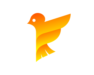 F + Bird Logo Design