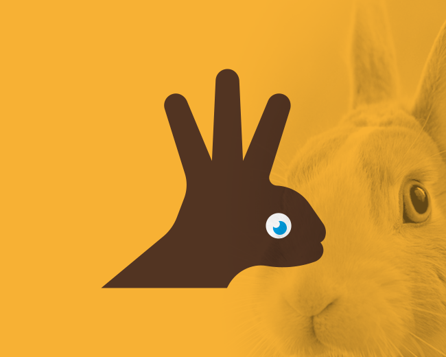 Rabbit Hand Head Silhouette Logo (for sale)
