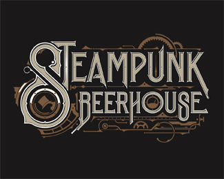 Steampunk Beer House | Logo | USA