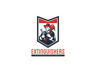 Extinguishers Firefighting and Rescue Service Logo