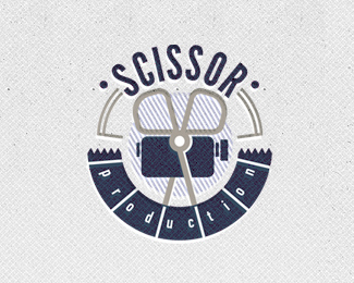 Scissor production logo