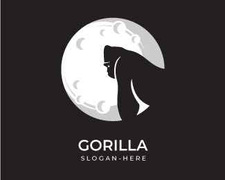 Gorilla Under Moon Logo