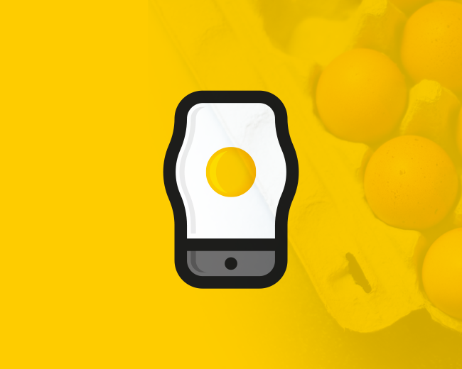 Breakfast Egg Phone (logo for sale)