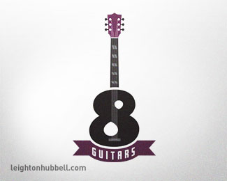 8 Guitars - typographic version