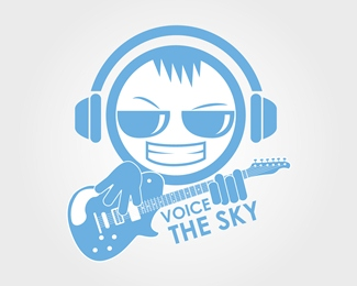 Music Group Logo 'Voice The Sky'