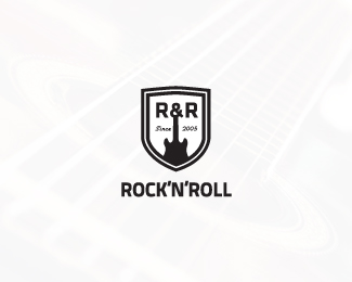 Rocknroll music shop logo