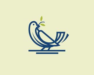 Bird Logo with Golden Ratio