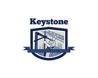 Keystone Construction Workers Hire Logo