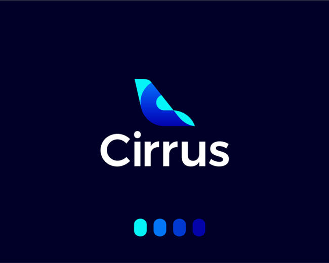Cirrus, logo design for flights ticketing ai