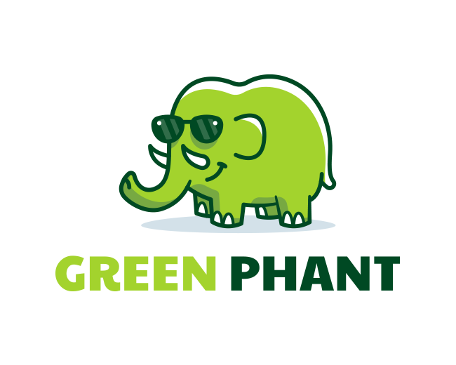 Green Phant - Elephant logo