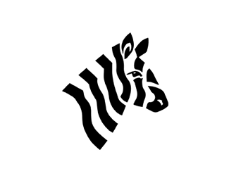 Black and White Zebra Logo