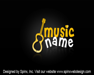 Get unique logo for your music company website at