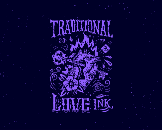 Traditional love ink