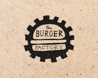 Logo design inspiration #25 - Nastya Dovgal - Burger Factory