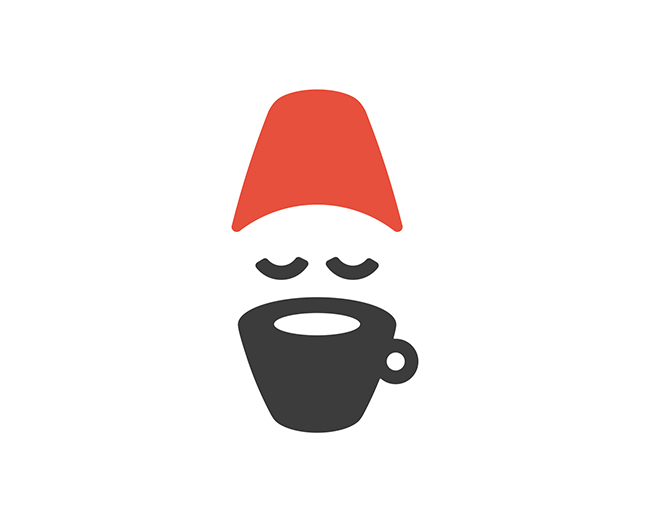 Coffee Man Fez 📌 Logo for Sale