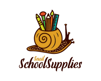Snail School Supplies Logo