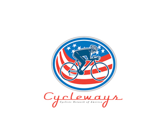Cycleways Cyclist Network American Logo
