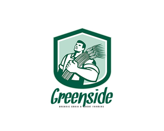 Greenside Organic Grain and Wheat Farms Logo