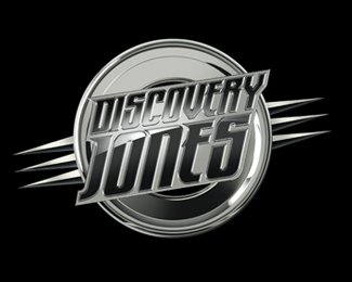 Discovery Jones chrome logo