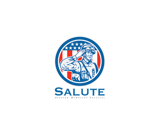 Salute Veteran Memorial Services Logo