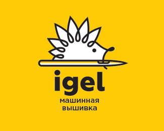 Igel. Machine embroidery