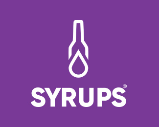 Minimalist logo design for Syrups