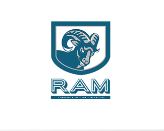 Ram Computer and Electronic Megastore Logo