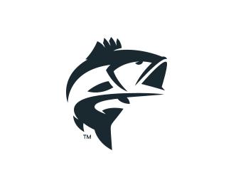 Logopond logo brand identity inspiration bass logo for Bass fishing logos