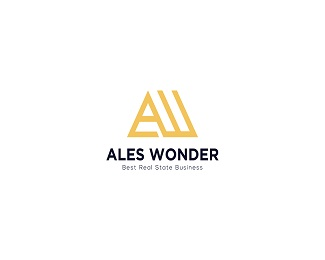Ales Wonder Properties - Logo design for real esta