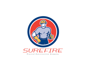 Surefire Trusted Construction Company Logo