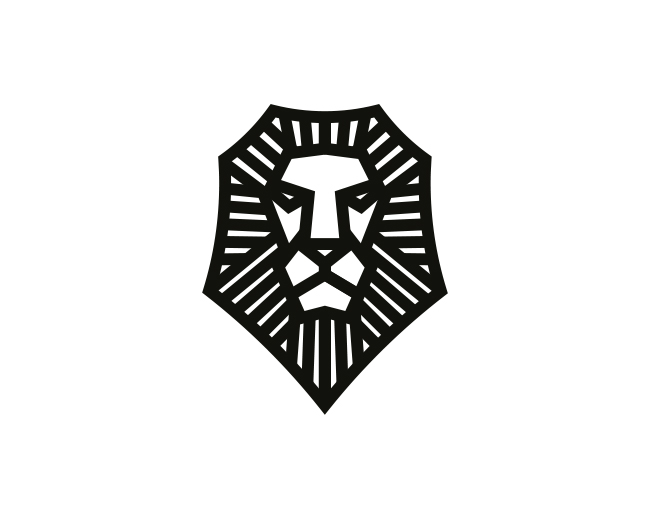 Lined Lion Head